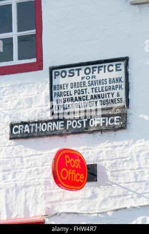 Crathorne Post Office, - Stock Photo
