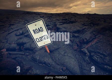 Road on Hawaii - Stock Photo