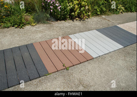WPC-Boards, Wood Polymer Components - Stock Photo
