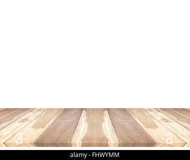 Wooden floor isolated on the white background. - Stock Photo