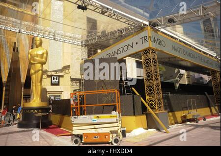 Hollywood, CA. 25th Feb, 2016. A general view of the atmosphere during the 88th annual Academy Awards red carpet - Stock Photo