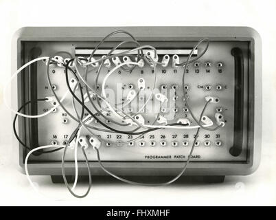 Connections on the back of a primitive programmer - Stock Photo