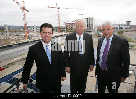 FILES - Declan Kelly (left) who has just been announced by Secretary of State Hilary Clinton as Economic Envoy to - Stock Photo