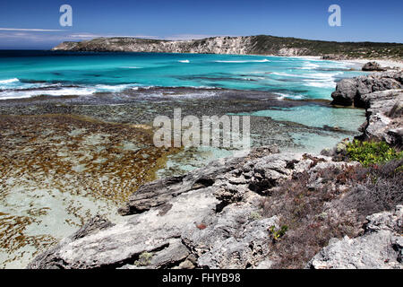 Coastal landscape in Pennington Bay on Kangaroo Island, South Australia, Australia. - Stock Photo