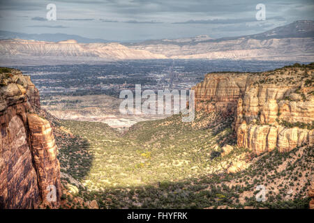 The East end of Red Canyon in the Colorado National Monument - Stock Photo