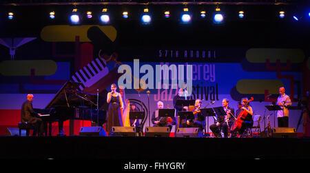 BILLY CHILDS and guests preform on the main stage of the MONTEREY JAZZ FESTIVAL - Stock Photo