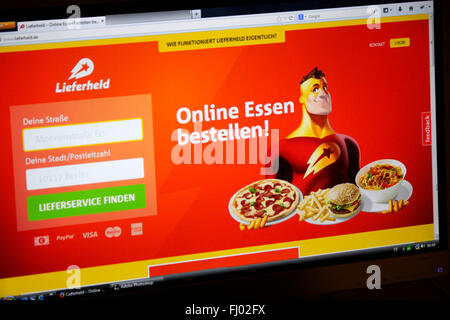 Markenname: 'Lieferheld' (Delivery Hero), Berlin. - Stock Photo