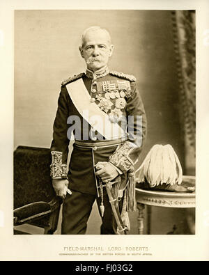 Field Marshal Frederick Sleigh Roberts, was a British soldier who was one of the most successful commanders of the - Stock Photo