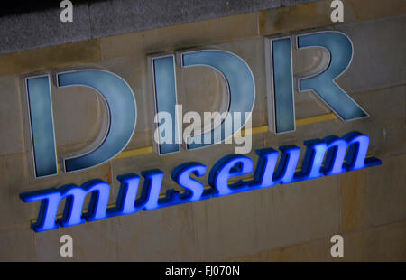 Markenname: 'DDR Museum', Berlin. - Stock Photo