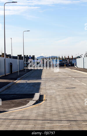 Dundee, Tayside, Scotland, UK, February 27th 2016: Dundee Waterfront Development Project. The Scottish Government - Stock Photo