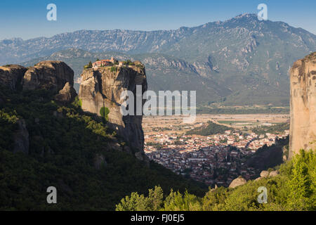 Meteora, Thessaly, Greece.  The Eastern Orthodox Holy Trinity Monastery. (In Greek, Agia Triada,  Ayías Triádhos - Stock Photo