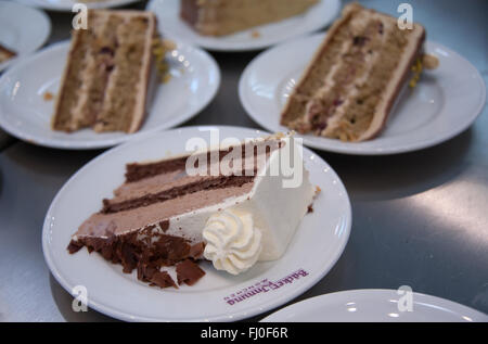 Munich, Germany. 26th Feb, 2016. Various pieces of cake pictured at a booth at the Internationale Handwerksmesse - Stock Photo