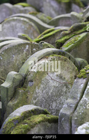 Hardy Tree Gravestones at the churchyard of St Pancras Old Church in London - Stock Photo