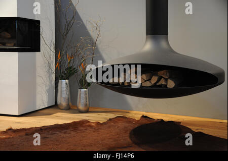 Munich, Germany. 26th Feb, 2016. A fireplace can be seen at the International Handcraft Fair IHM in Munich, Germany, - Stock Photo