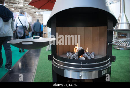 Munich, Germany. 26th Feb, 2016. A barbecue can be seen at the International Handcraft Fair IHM in Munich, Germany, - Stock Photo