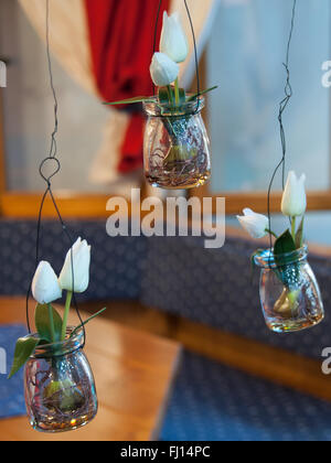 Munich, Germany. 26th Feb, 2016. Flowers can be seen at the International Handcraft Fair IHM in Munich, Germany, - Stock Photo