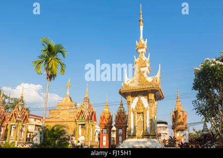 Wat Luang Pakse is a ancient Buddhist temple in Pakse in south Laos - Stock Photo