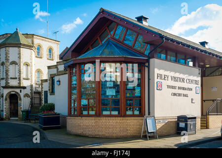 Visitors Centre Tourist Information office and Concert Hall in Filey North Yorkshire England - Stock Photo