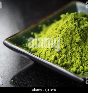 Matcha tea in a bowl - Stock Photo