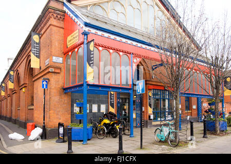 Manchester, UK - 16 February 2016: Exterior of the Manchester Craft and Design Centre in the Northern Quarter - Stock Photo