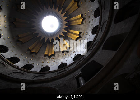 Dome of Church of the Holy Sepulchre , Jerusalem - Stock Photo