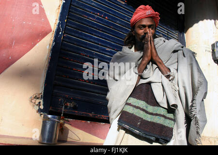 Sadhu / Hindu holy man in Pushkar , India - Stock Photo