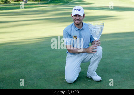 Perth, Australia. 28th Feb, 2016. ISPS HANDA Perth International Golf. Louis Oosthuizen winner of the tournament - Stock Photo
