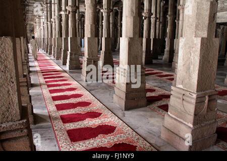 Stunning architecture inside Jama Masjid, Ahmedabad, India - Stock Photo