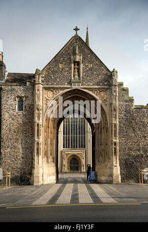 The Erpingham Gate, Norwich Cathedral, - Stock Photo