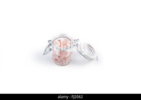 Himalayan pink salt - Stock Photo