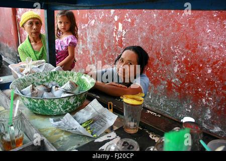 People in Yogyakarta city center,   Indonesia - Stock Photo