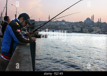 Galata bridge , Istanbul - Stock Photo