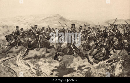 The Charge of the Light Brigade in 1854 - Stock Photo