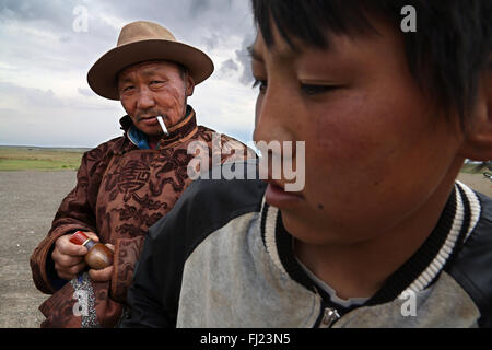 Portrait of man from Mongolia - Stock Photo