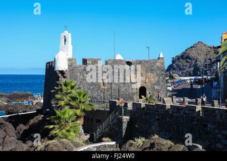 GARACHICO, SPAIN - JANUARY 20, 2016: Ermita de San Roque in Garachico, Tenerife, Canary Islands, Spain - Stock Photo