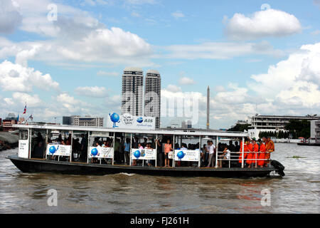 Taxi Boat on Chao Phraya river, Bangkok - Stock Photo