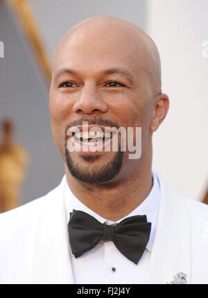 Los Angeles, California, USA. 28th Feb, 2016. COMMON during red carpet arrivals for the 88th Academy Awards. (Credit - Stock Photo