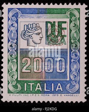 1979 - Italian mint stamp issued. Lire 2000 - Stock Photo