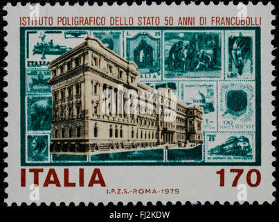 1979 - Italian mint stamp issued to celebrate the Polygraph Institute. Lire 170 - Stock Photo