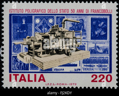 1979 - Italian mint stamp issued to celebrate the Polygraph Institute. Lire 220 - Stock Photo