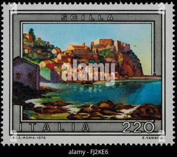 1979 - Italian mint stamp issued to commemorate Scilla Lire 220 - Stock Photo