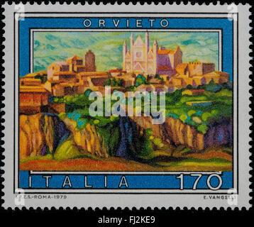 1979 - Italian mint stamp issued to commemorate Orvieto Lire 170 - Stock Photo