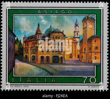 1979 - Italian mint stamp issued to commemorate Asiago Lire 70 - Stock Photo