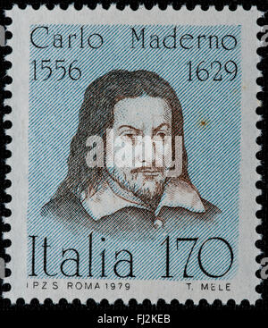 1979 - Italian mint stamp issued to celebrate Carlo Maderno Lire 170 - Stock Photo