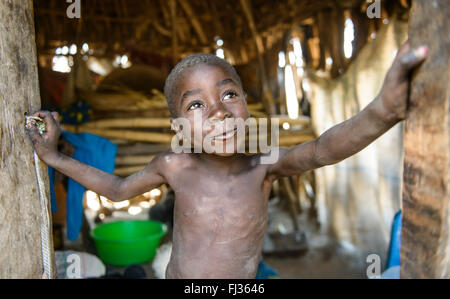 Tribal people of Angola, Africa - Stock Photo