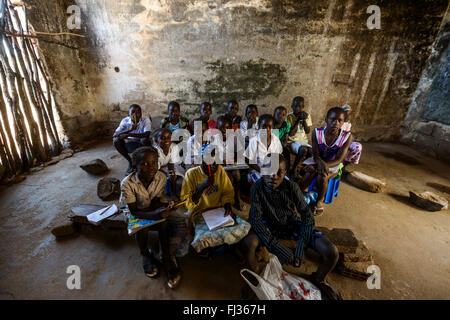 A rural school, Angola, Africa - Stock Photo