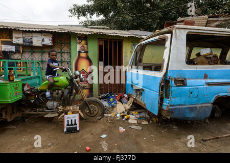 Life in Bairro Rangel, Luanda, Angola, Africa - Stock Photo