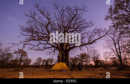 Camping in Angola, Africa - Stock Photo