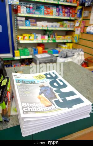 First edition of the new National newspaper 'New Day', Britain, UK - Stock Photo