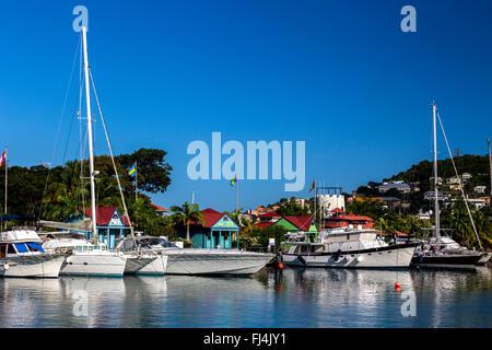 The Lagoon, St George's Harbour, Grenada - Stock Photo
